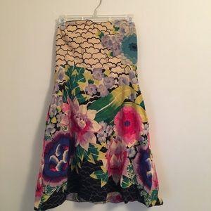 Anthropologie strapless dress size 6